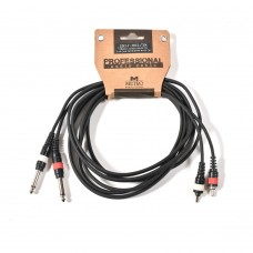 Metro 2R2J-001/3M cable  2xRCA MALE in 2x6.3mm jack mono male 3m