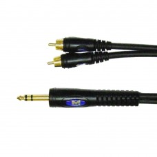Metro cable  Stereo Mini Jack 3.5mm in 2g RCA Mono 6m with Gold Plated